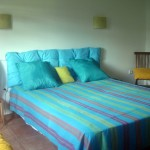 renting villa with air con-rooms; 1 queen size bed 160 x 200 or 2 single beds
