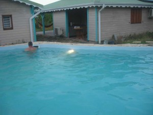 The large swimming pool of Residences Guadeloupe