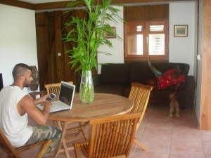Holiday rental in Guadeloupe, the dining room